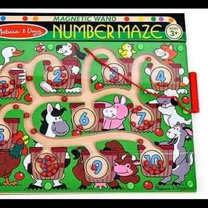 NWT Melissa & Doug Magnetic Wand Number Maze